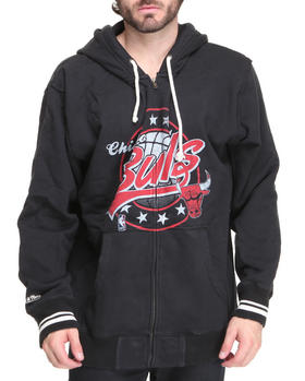 Mitchell & Ness - Chicago Bulls NBA Full Zip Fleece Hoodie (Tailored Fit)