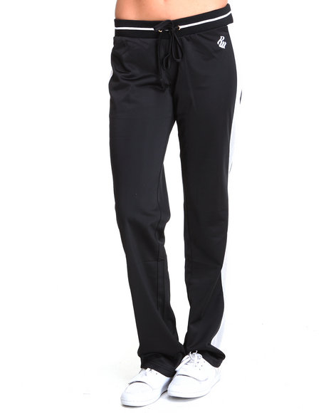 Rocawear Women Black, White Brooklyn 99 Active Pant