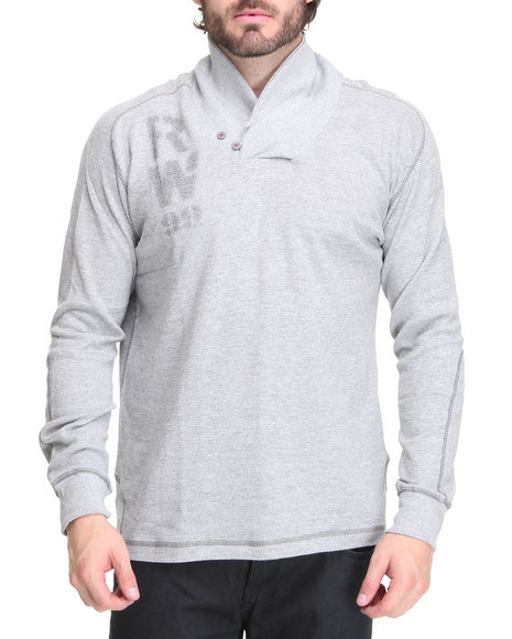 Rocawear Men Grey The Return Collared Thermal