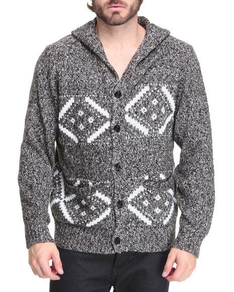 Rocawear Men Black,Grey Northern Hale Hooded Sweater