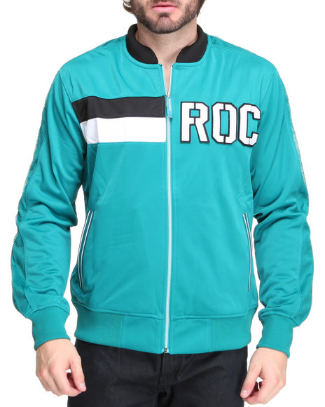 Rocawear Men Teal The Xavier Track Jacket