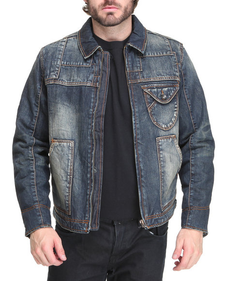 Rocawear Men Dark Wash Benton Denim Jacket