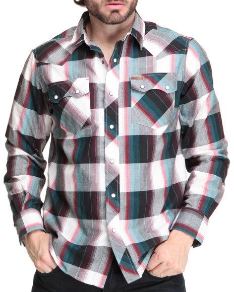 Rocawear Men Multi Outlaw L/S Button-Down