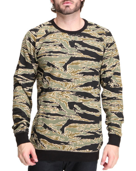 Blvck Scvle Camo Pullover Sweatshirts