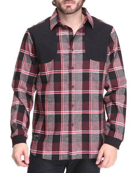 Rocawear Men Red Reik Button-Down