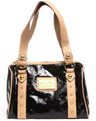 Women - Bossy Embossed Patent 4 Ring Satchel