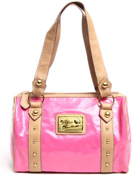 Apple Bottoms - Bossy Embossed Patent 4 Ring Satchel