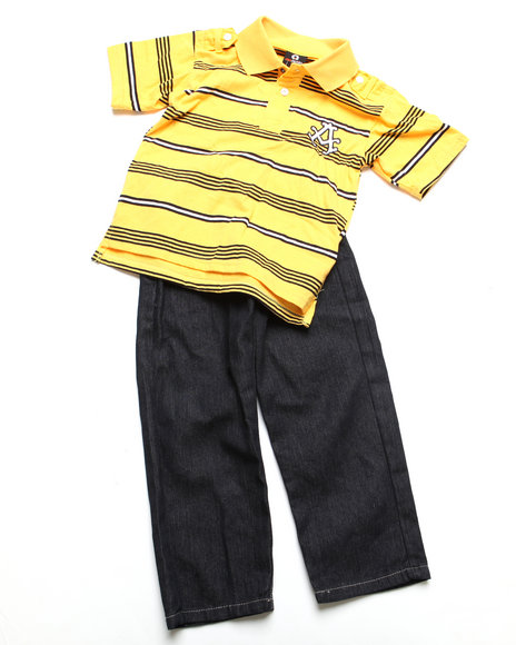 - 2pc Abner Polo Set (4-7)