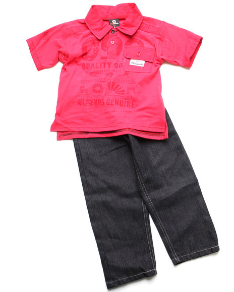 - 2pc Clyde Polo Set (4-7)