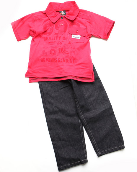 - 2pc Clyde Polo Set (NB)