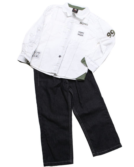 - 2pc Indy Solid Woven Set (4-7)