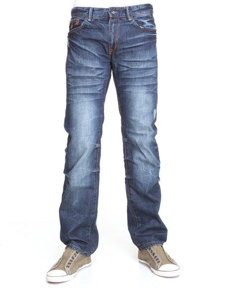 Rocawear Men Medium Wash Fresh To Death Straight Fit Jeans