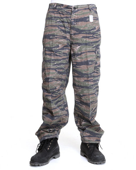 Drj Army/Navy Shop - Men Camo Rothco Authentic Vintage Vietnam-Era 6-Pocket Tiger Camo Cargo Pants