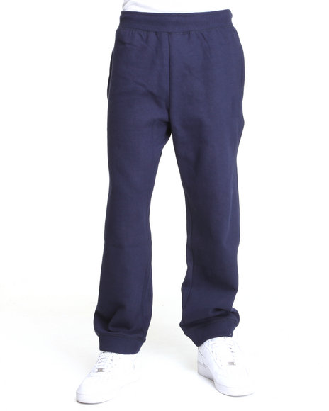 Rocawear Men Navy Heavyweight Fleece Sweatpants