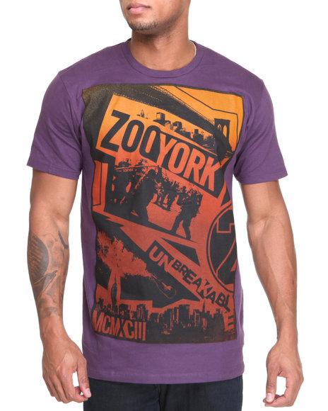 Zoo York Men Purple Purple Haze Tee