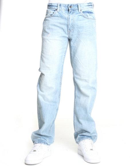 Rocawear Men Light Wash D.B. Fresh Classic Fit Jeans