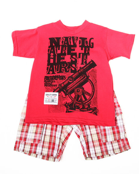 2 pc set - tee & shorts (2t-4t)