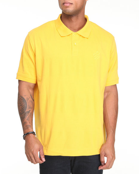 Rocawear Men Shadow Rider S/S Polo Yellow Medium