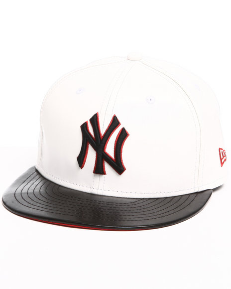 new york yankees leather duo chrome snapback hat