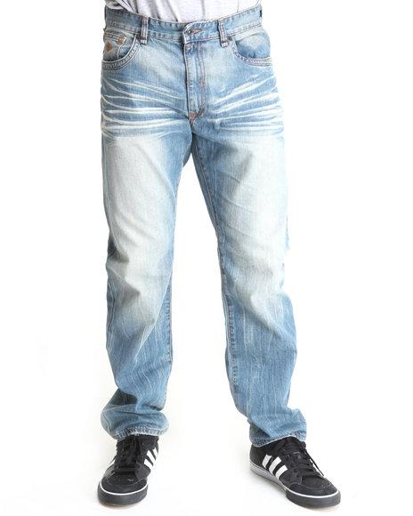 Rocawear Men Light Blue Life Line Classic Fit Jeans