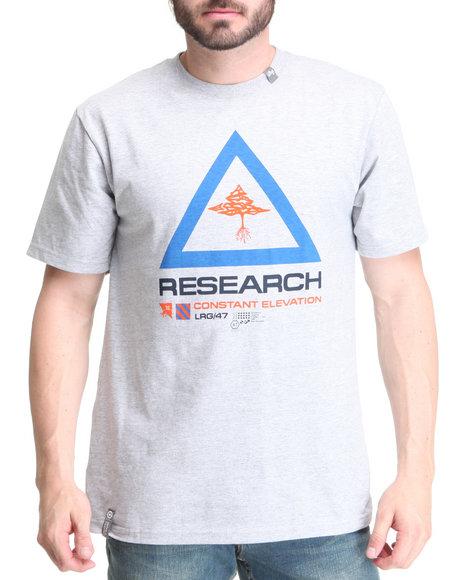 LRG Men Grey Constant Research Tee