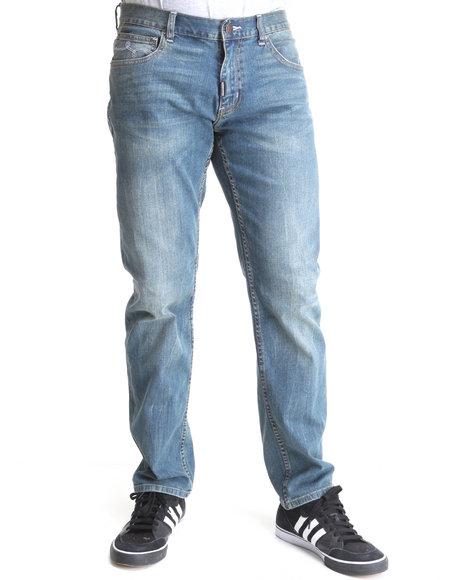 LRG Men Medium Wash Linden True-Straight Jeans