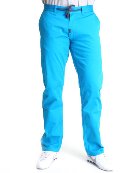 LRG Men Blue Research 3047 Chino True-Straight Pants
