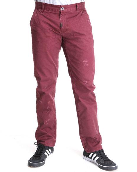LRG Men Maroon Heartwood True-Straight Chino Pants