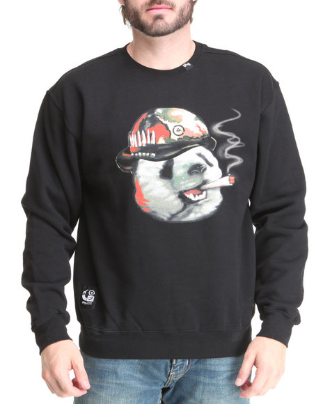 LRG Men Black Pandemic Sweatshirt