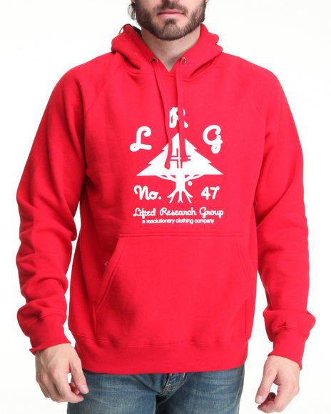 LRG Men Red O G Army Pullover Hoodie