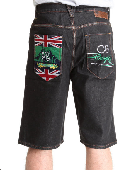 COOGI Men Black Expedition Denim Shorts