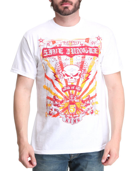 5ive Jungle - Men White Never Seen Tee
