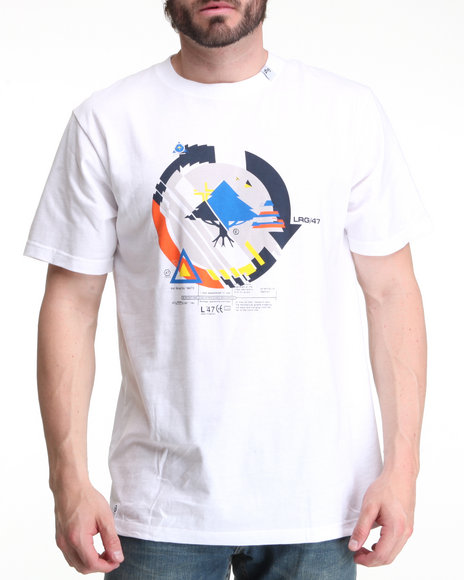 LRG Men White Technautical Cycle Tee