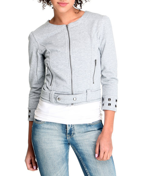 Trinket - Women Grey Roxanne Sweatshirt Jacket