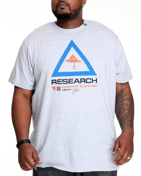 LRG Men Grey Constant Research Tee (B&T)