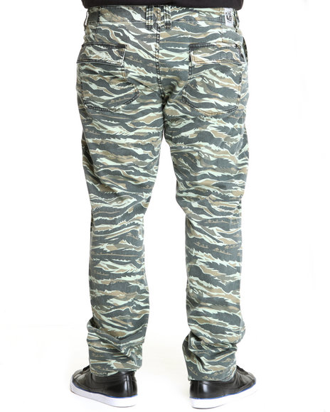LRG Men Camo O G Army Chino True-Straight Pants (B&T)