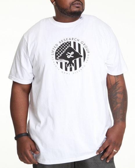 LRG Men White Trees And Stripes Tee (B&T)