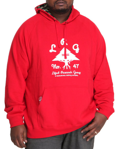 LRG Men Red O G Army Pullover Hoodie (B&T)