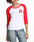 Long-Sleeve - Baseball tee w/letter A