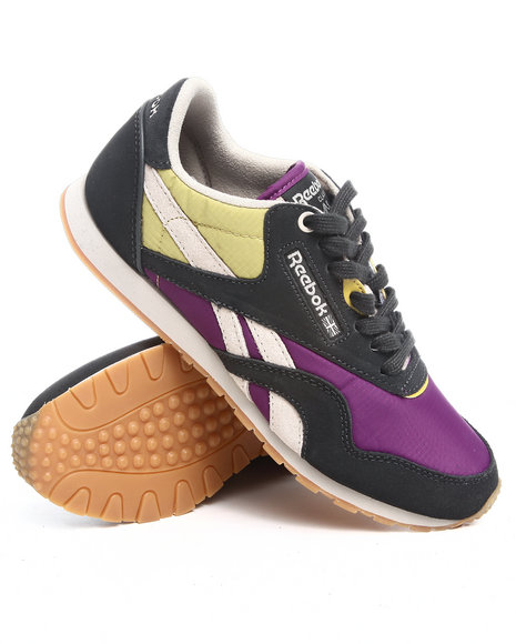 Reebok Women Grey Cl Nylon Slim Sneakers