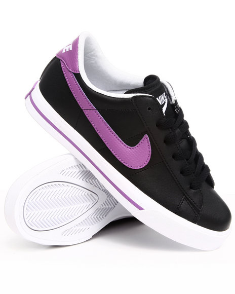 Nike Women Black Wmns Sweet Classic Leather Sneakers