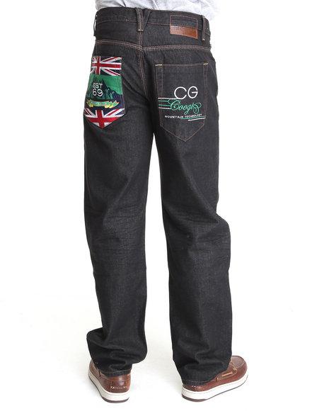 COOGI Men Black Expedition Black Wash Denim Jeans