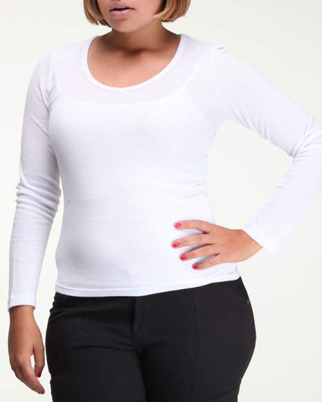long sleeve v-neck thermal shirt