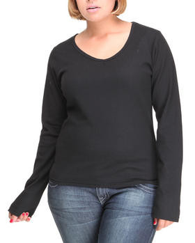 Basic Essentials - Long sleeve v-neck thermal shirt