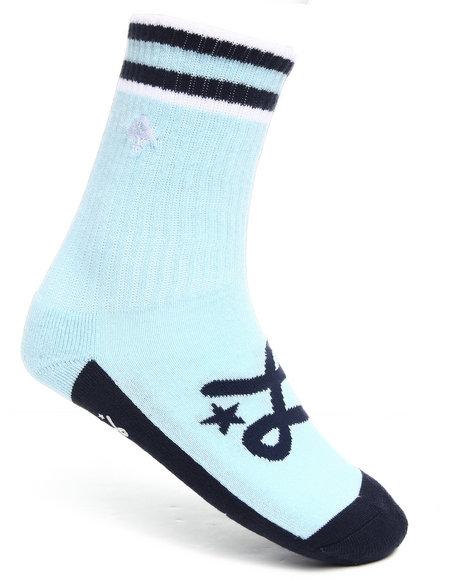LRG Men Light Blue Ankle Tree Crew Socks