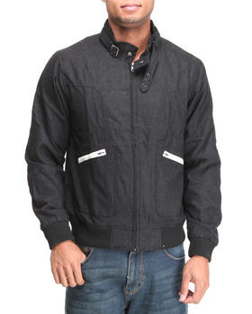 Basic Essentials - Wool Blend zip front jacket w/ contrast zip pockets