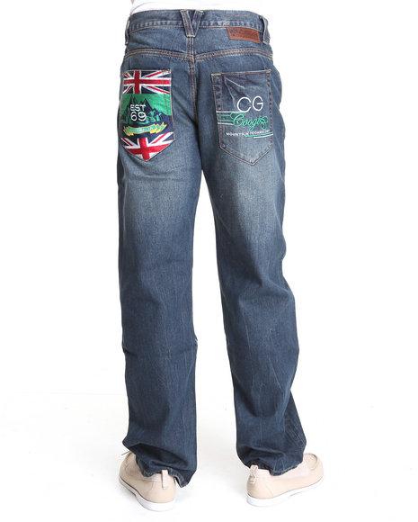 COOGI Men Dark Wash Expedition Dk Blue Wash Denim Jeans