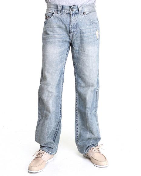 Pelle Pelle Men Vintage Wash Denim Co. Jeans