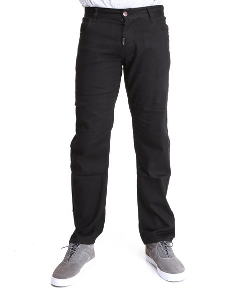 LRG Men Black Core Collection True-Straight 5-Pocket Twill Pants