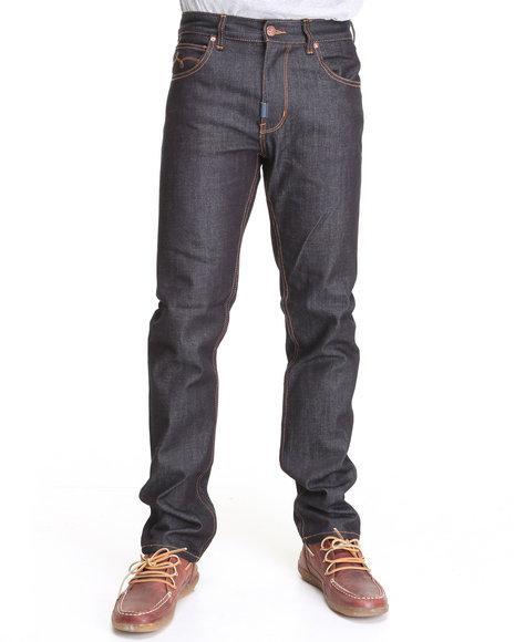 LRG Men Raw Wash Core Collection Slim-Straight Denim Jeans